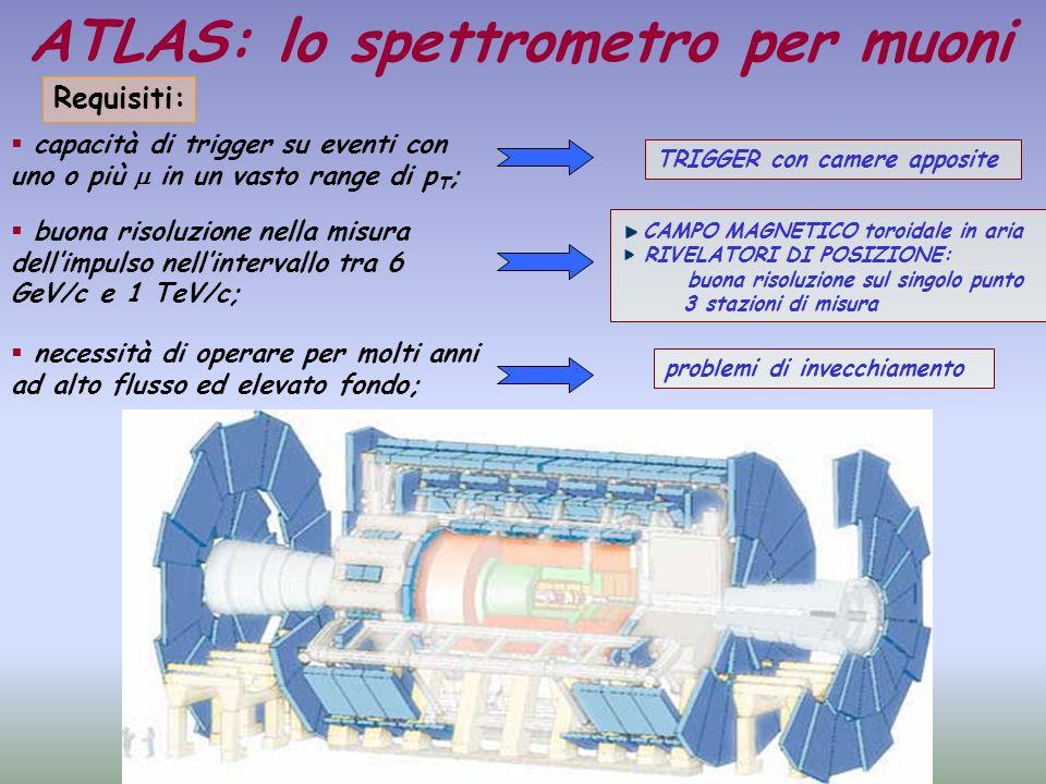 ATLAS: lo spettrometro per muoni buona risoluzione sul singolo punto