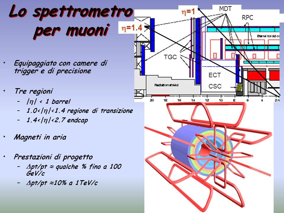 Lo spettrometro per muoni