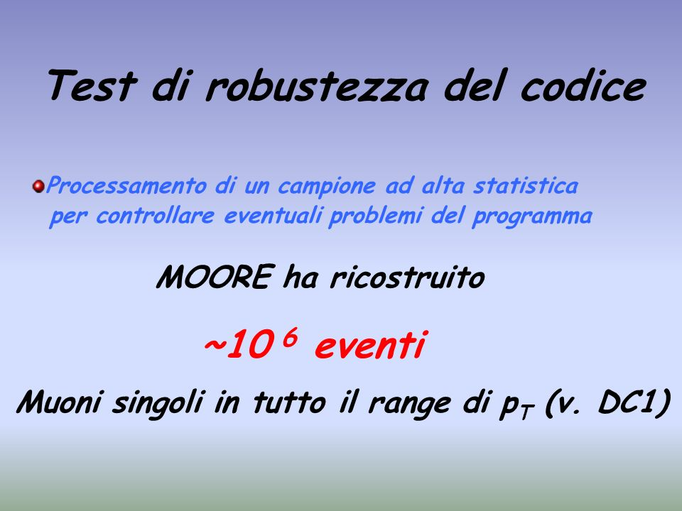 Test di robustezza del codice