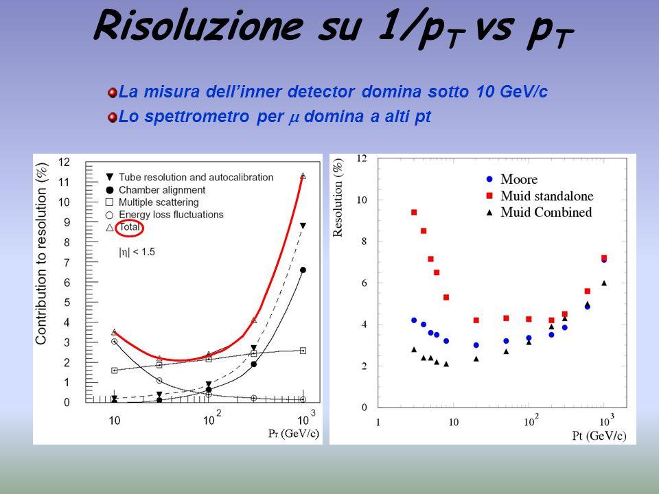 Risoluzione su 1/pT vs pT