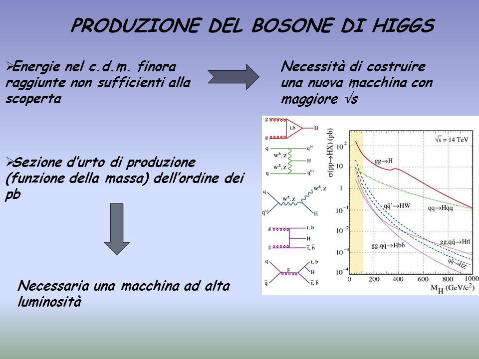 PRODUZIONE DEL BOSONE DI HIGGS