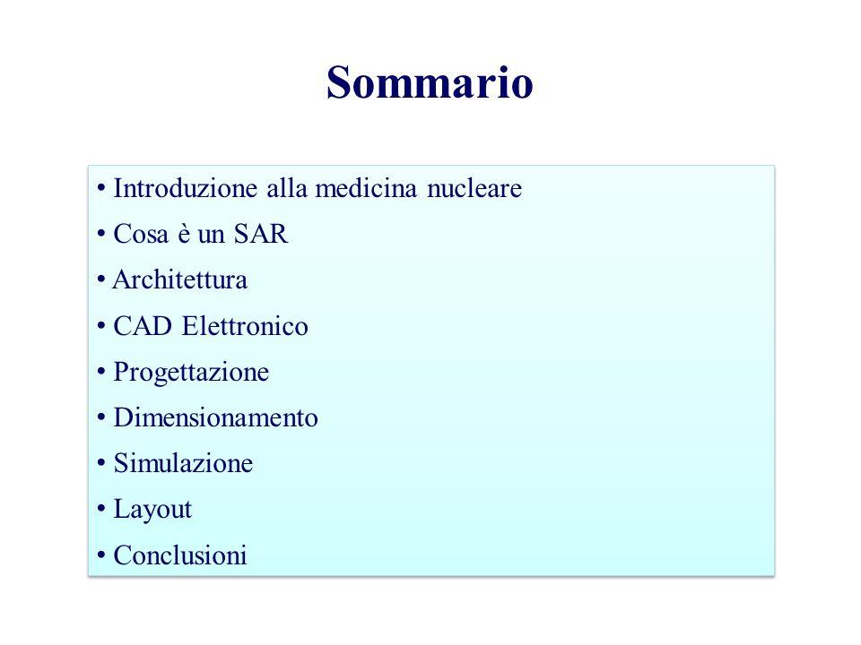 Sommario Introduzione alla medicina nucleare Cosa è un SAR