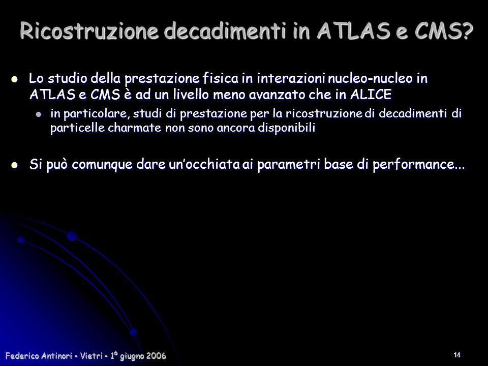 Ricostruzione decadimenti in ATLAS e CMS
