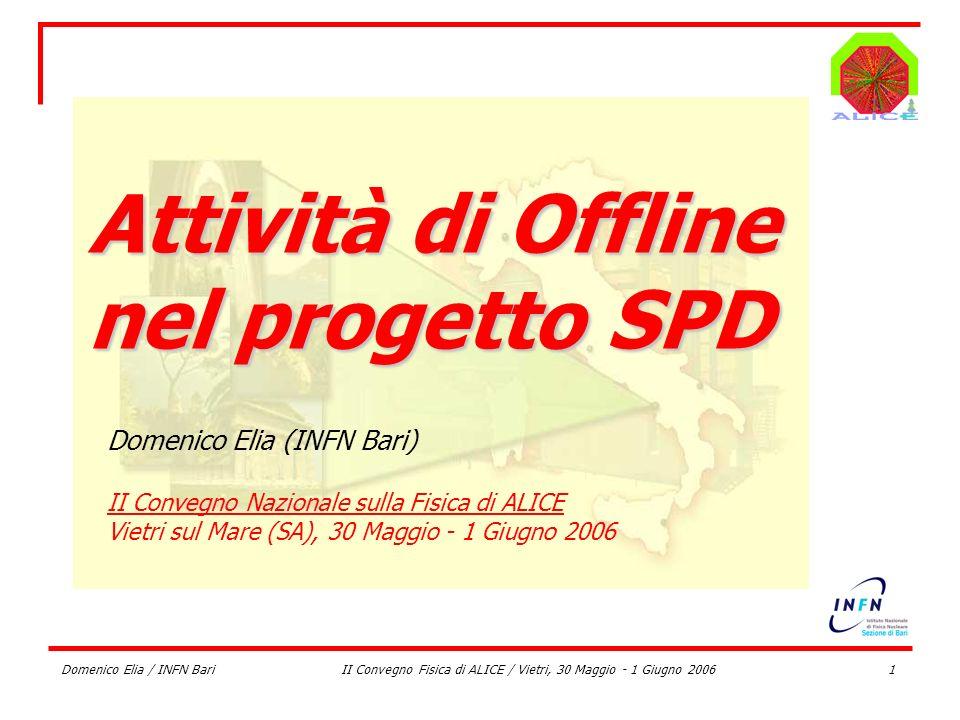 II Convegno Fisica di ALICE / Vietri, 30 Maggio - 1 Giugno 2006