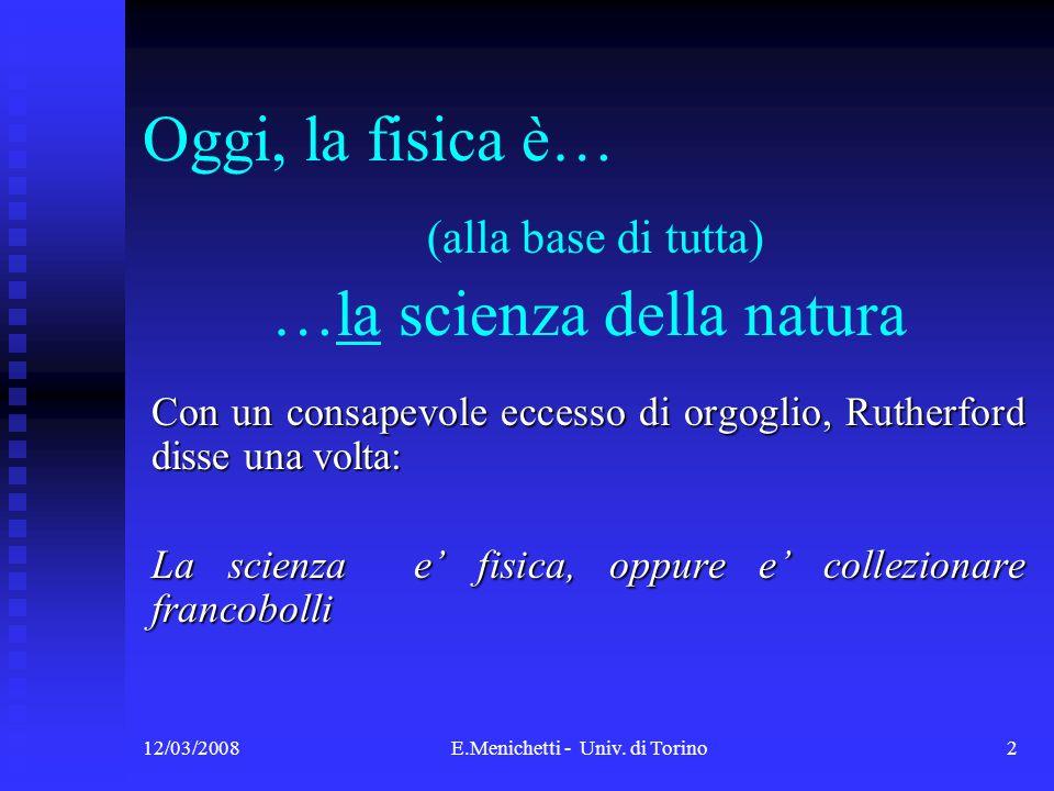 …la scienza della natura