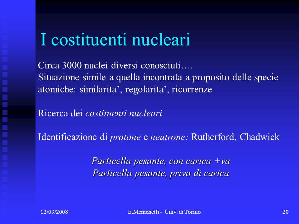 I costituenti nucleari