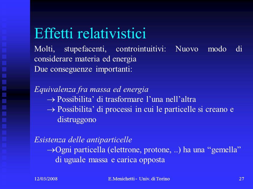 Effetti relativistici