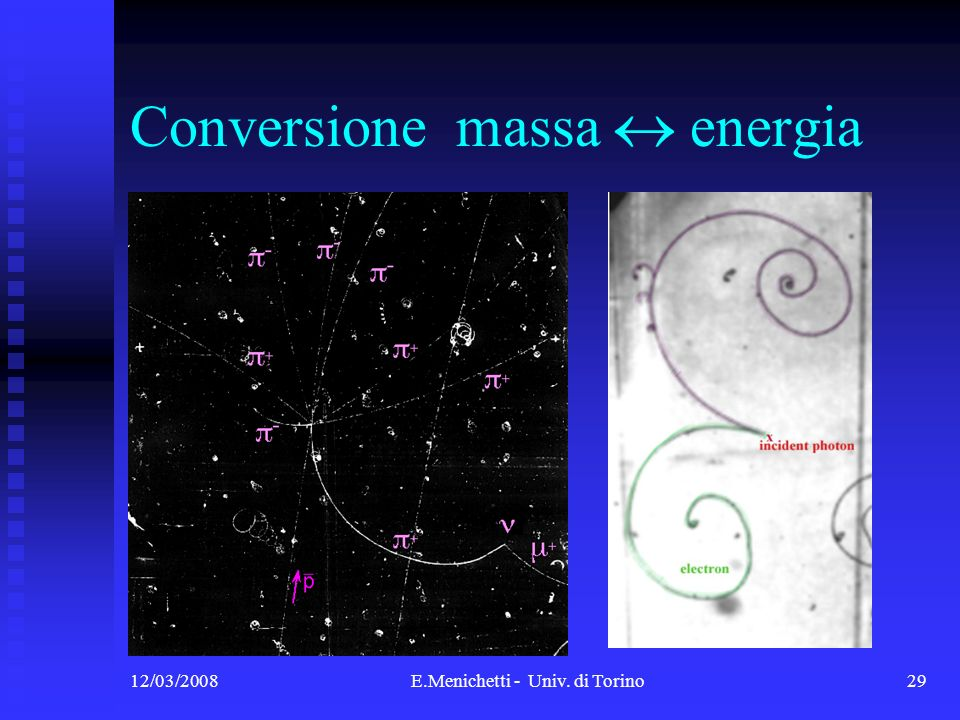 Conversione massa  energia