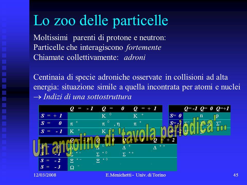 Lo zoo delle particelle