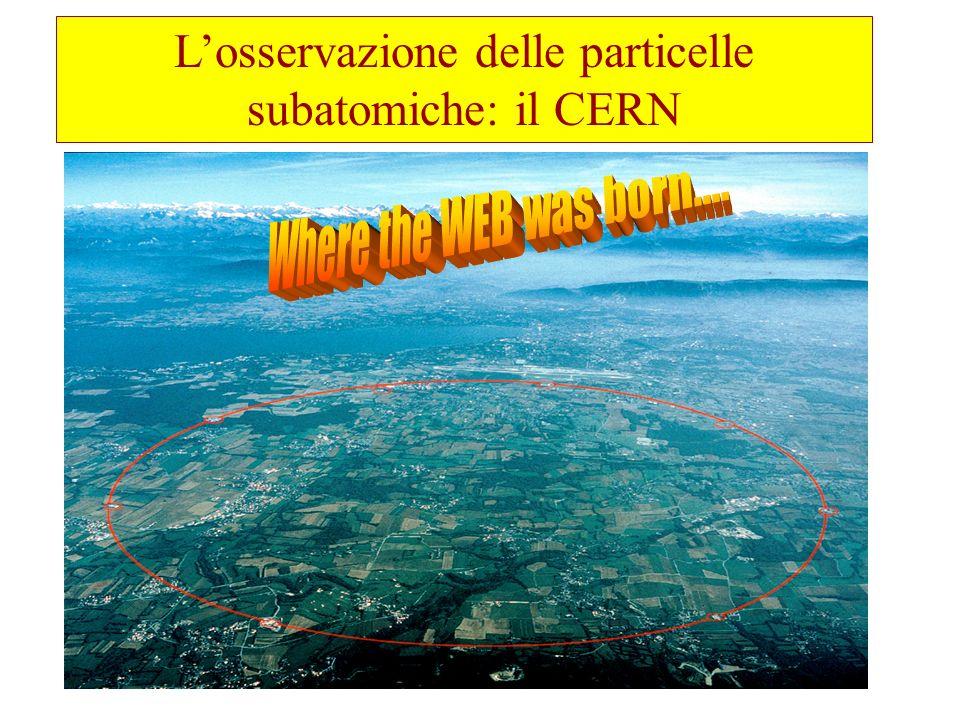 L'osservazione delle particelle subatomiche: il CERN