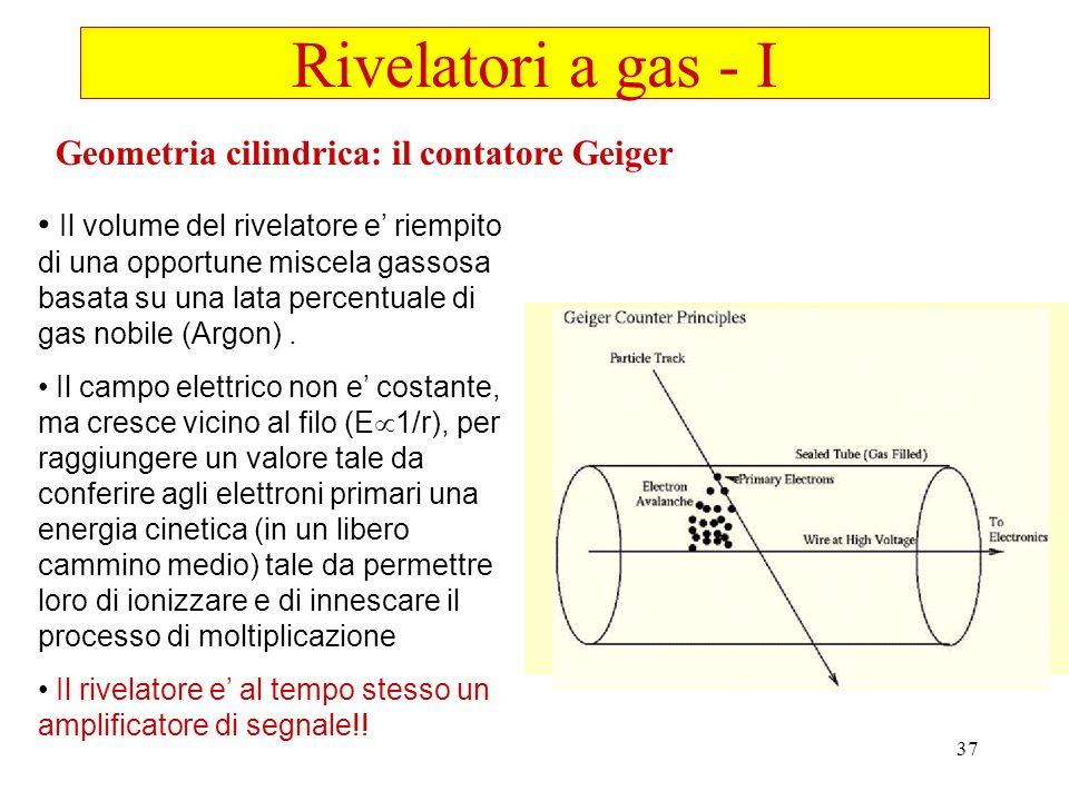 Rivelatori a gas - I Geometria cilindrica: il contatore Geiger