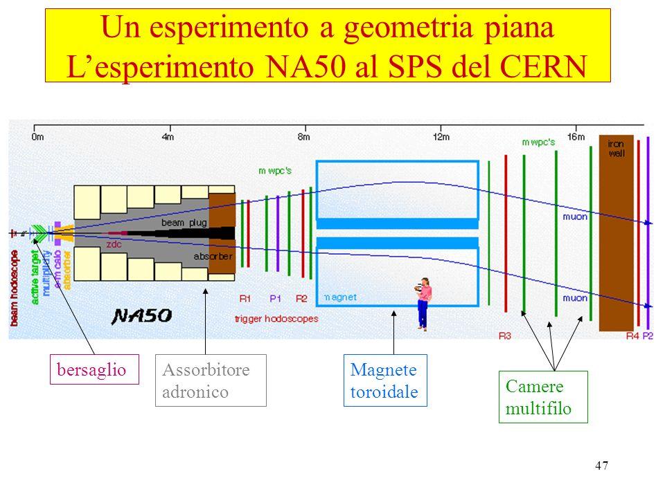 Un esperimento a geometria piana L'esperimento NA50 al SPS del CERN