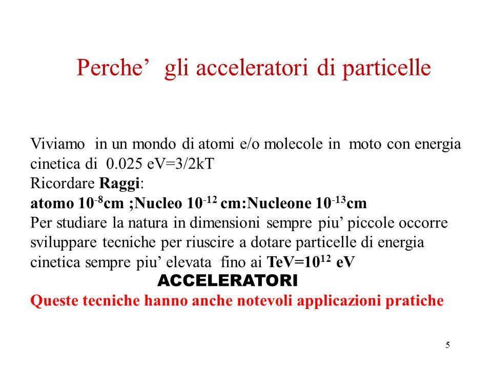 Perche' gli acceleratori di particelle
