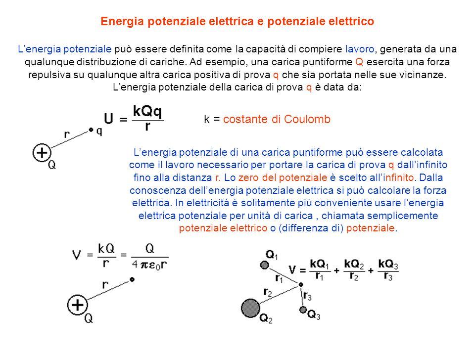 Energia potenziale elettrica e potenziale elettrico