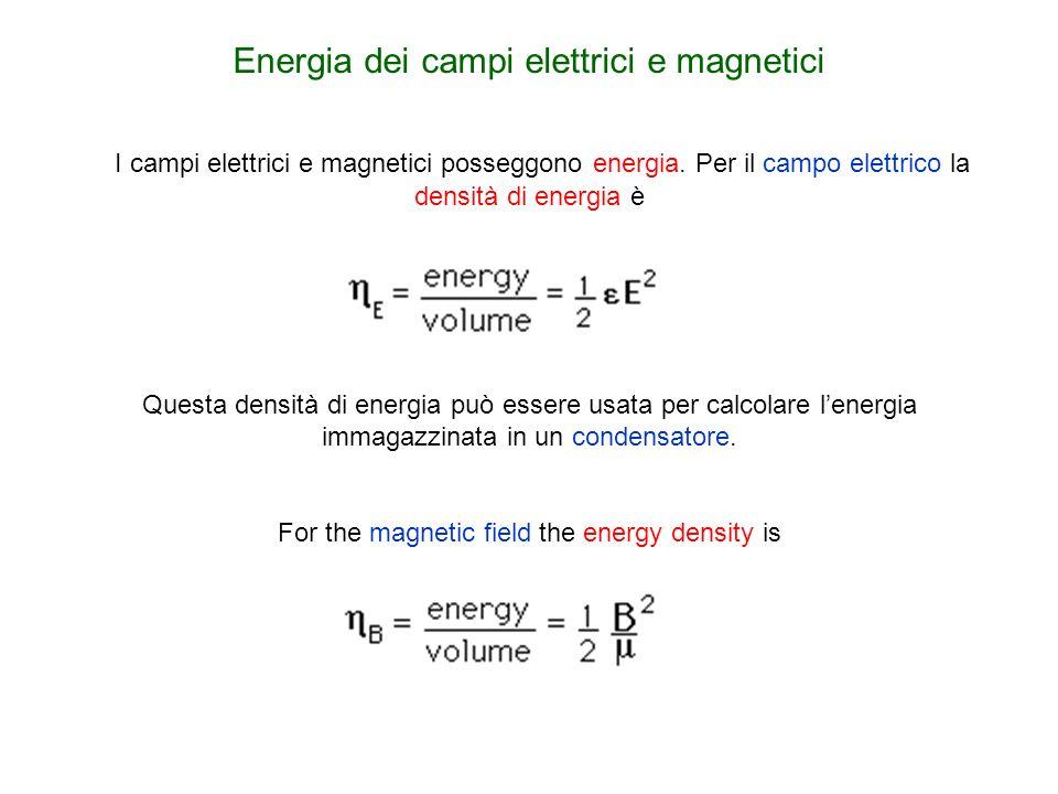 Energia dei campi elettrici e magnetici