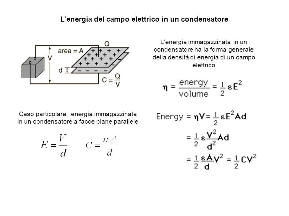 L'energia del campo elettrico in un condensatore
