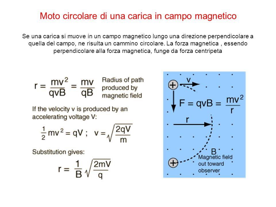 Moto circolare di una carica in campo magnetico