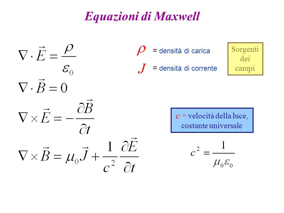 c = velocità della luce, costante universale