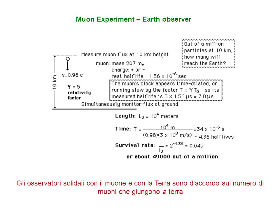 Muon Experiment – Earth observer