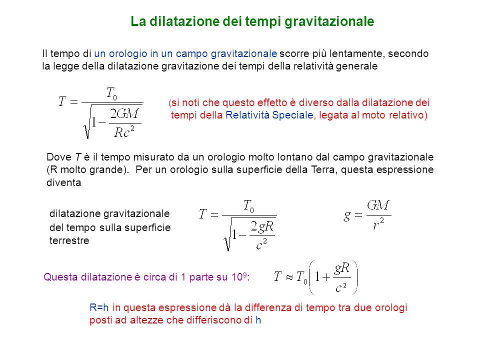 La dilatazione dei tempi gravitazionale