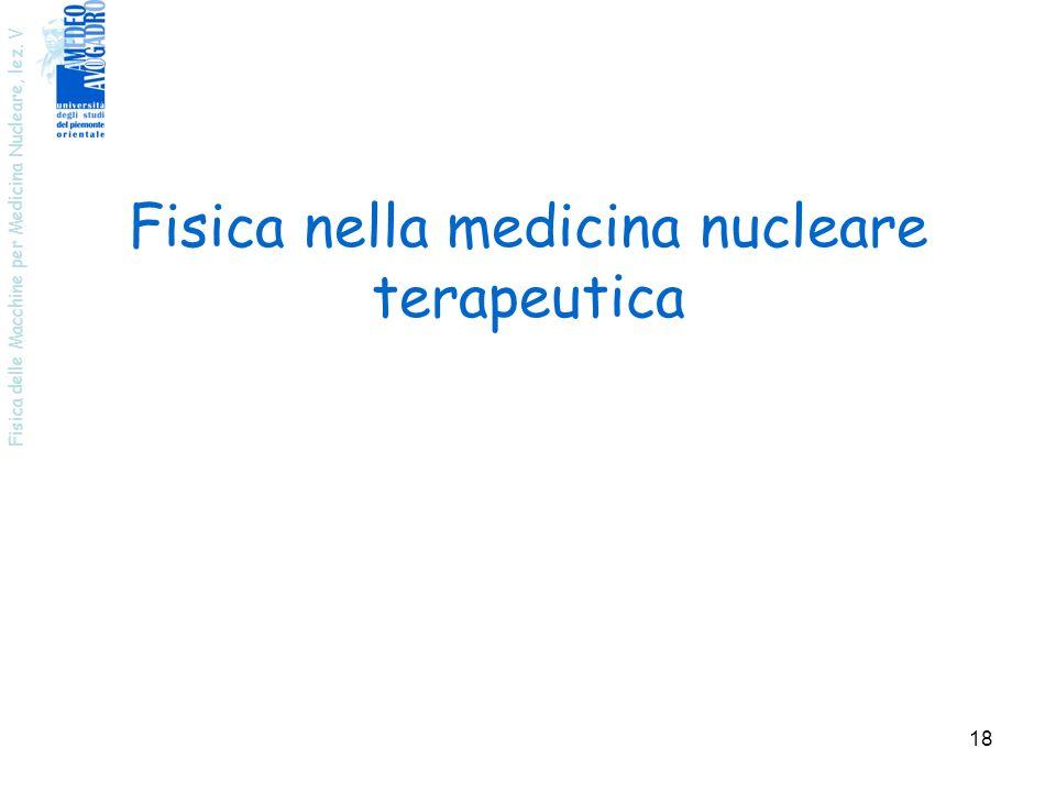Fisica nella medicina nucleare terapeutica