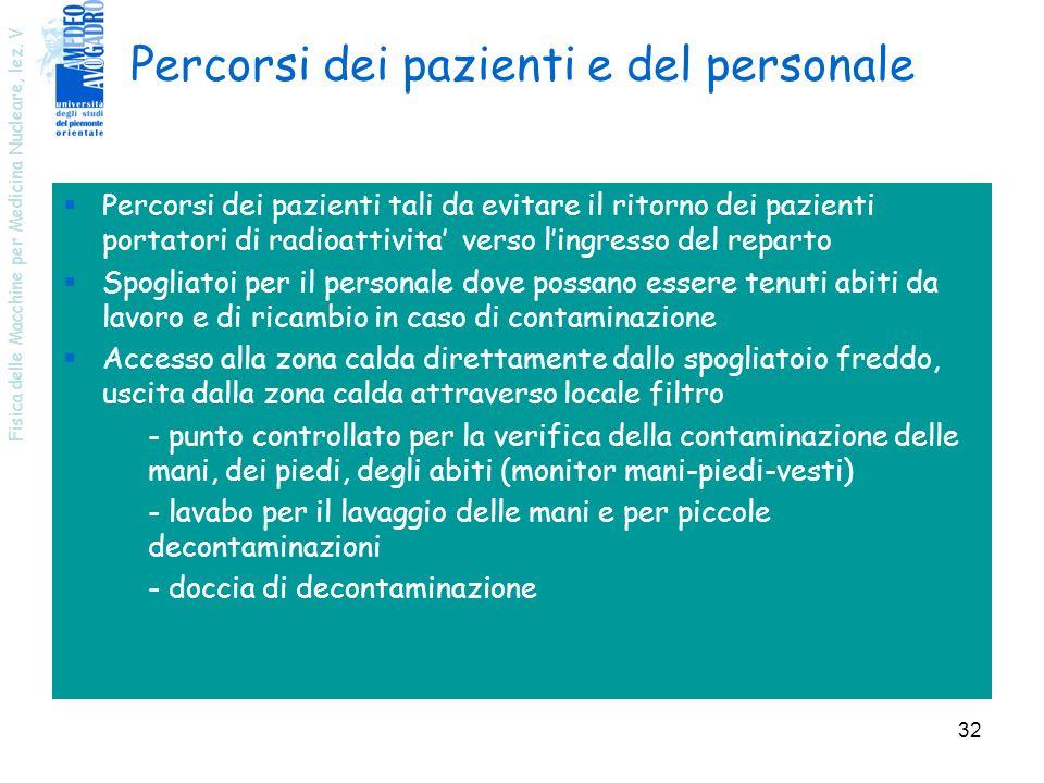 Percorsi dei pazienti e del personale
