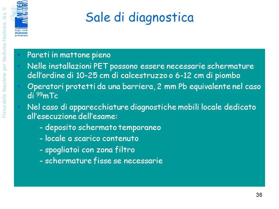 Sale di diagnostica Pareti in mattone pieno