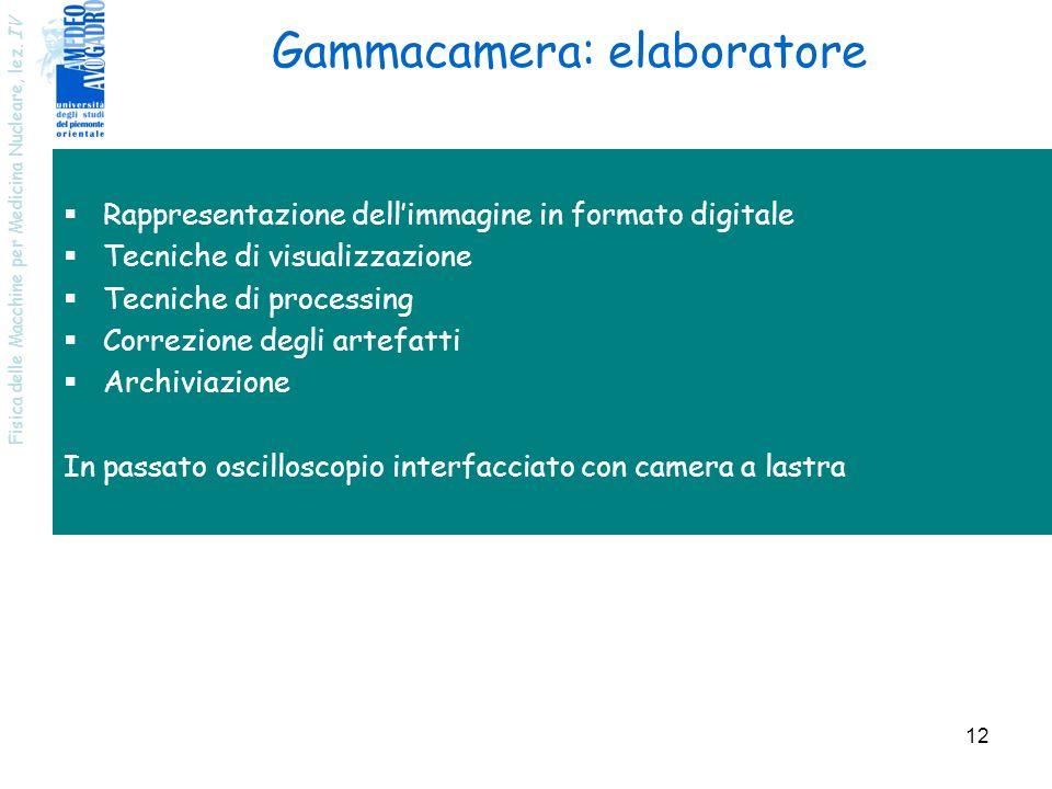 Gammacamera: elaboratore