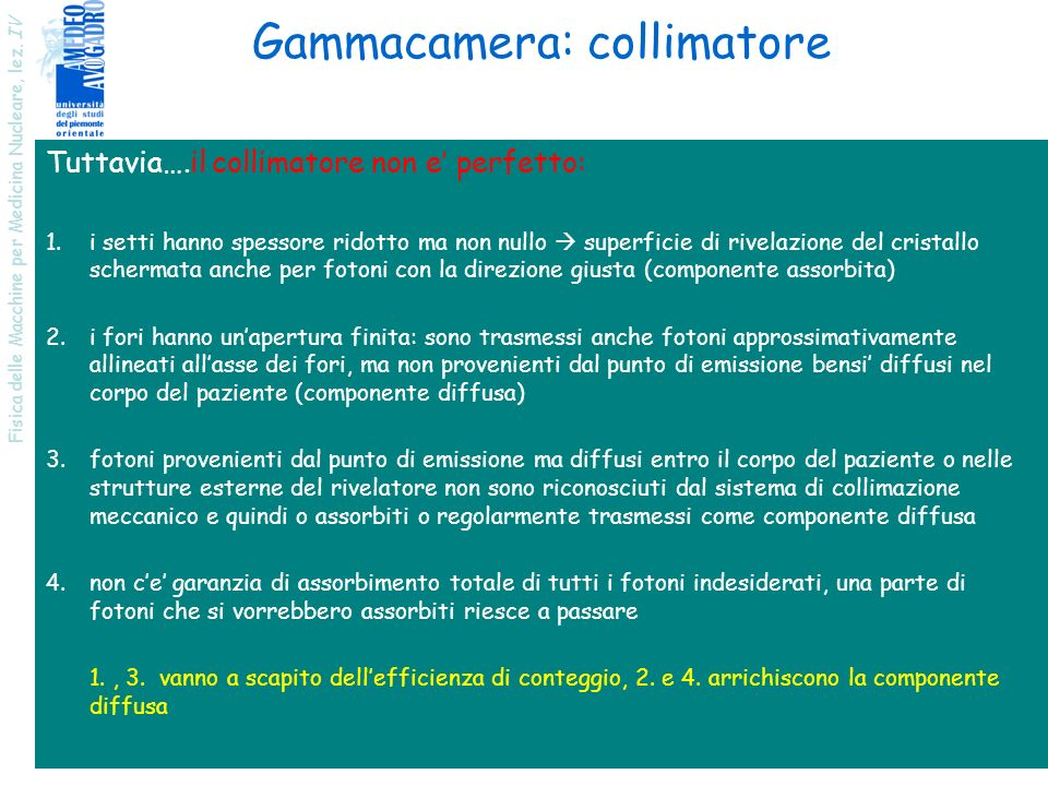 Gammacamera: collimatore