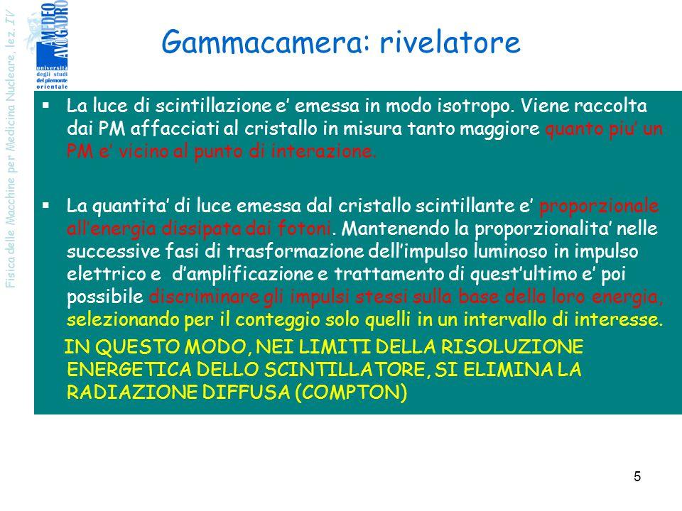 Gammacamera: rivelatore