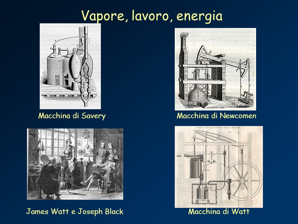 James Watt e Joseph Black