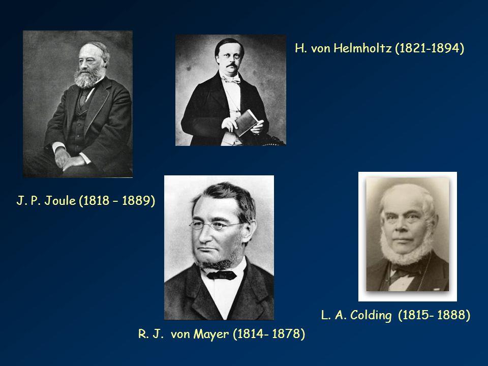 H. von Helmholtz (1821-1894) J. P. Joule (1818 – 1889) L.