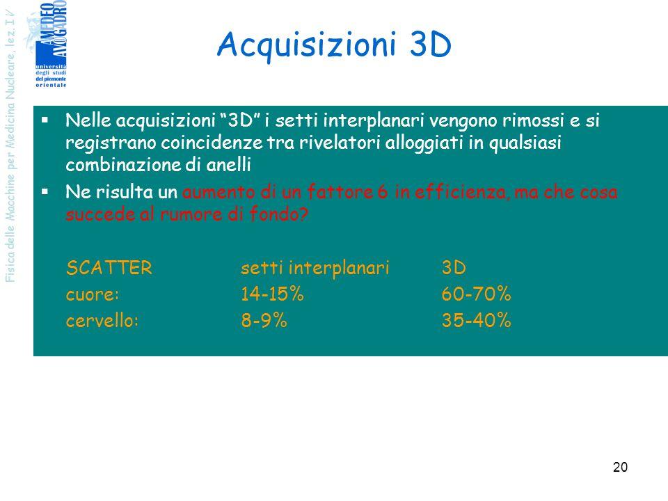 Acquisizioni 3D