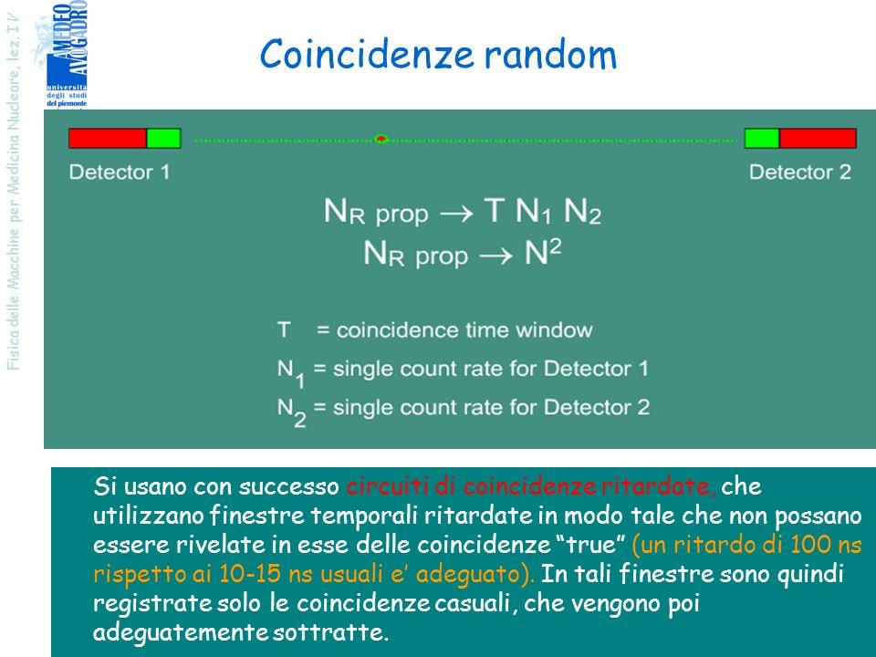 Coincidenze random Fisica delle Macchine per Medicina Nucleare, lez. IV.
