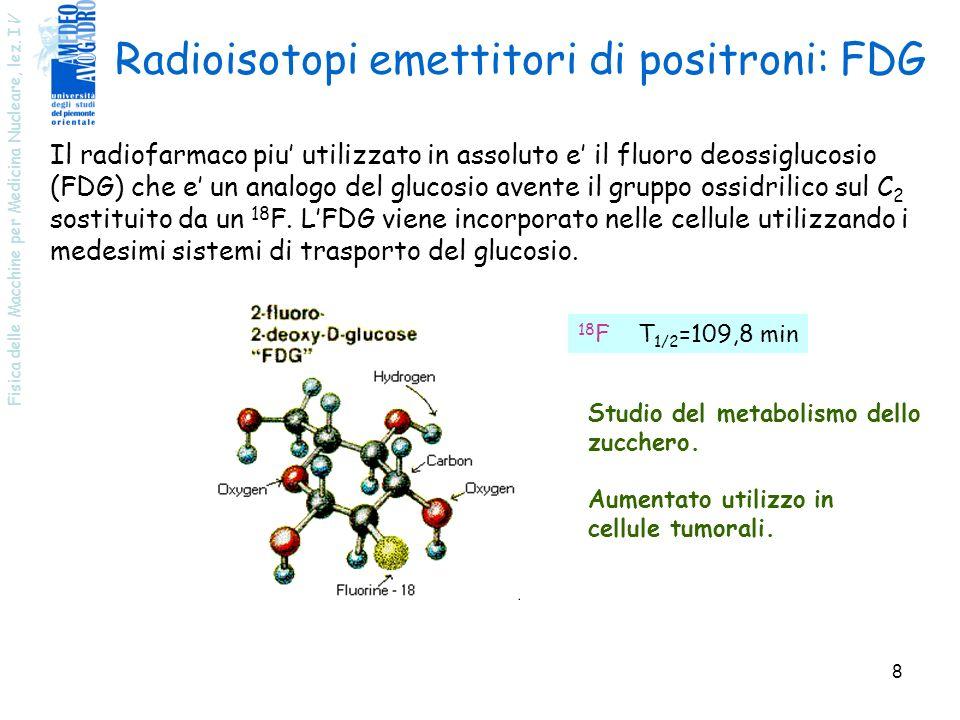 Radioisotopi emettitori di positroni: FDG