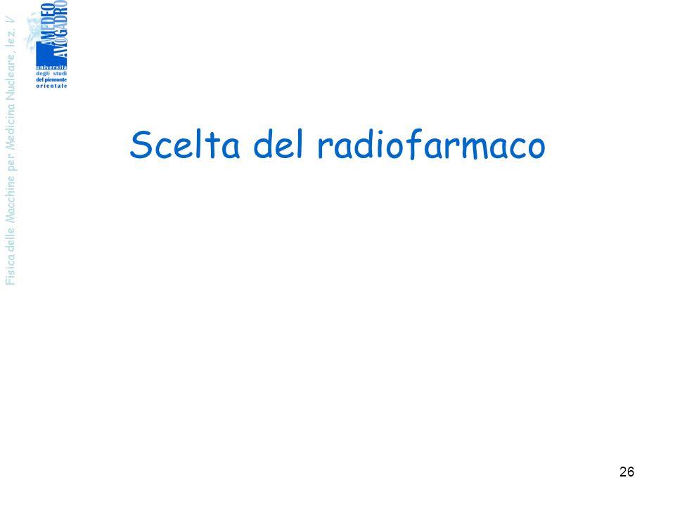 Scelta del radiofarmaco