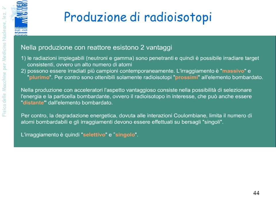 Produzione di radioisotopi