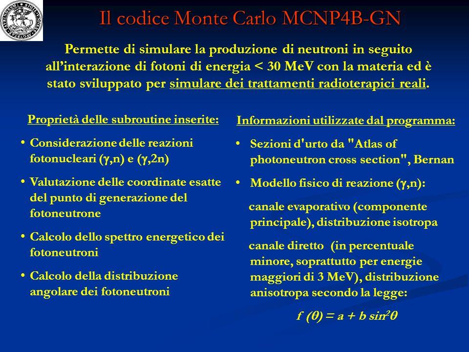 Il codice Monte Carlo MCNP4B-GN