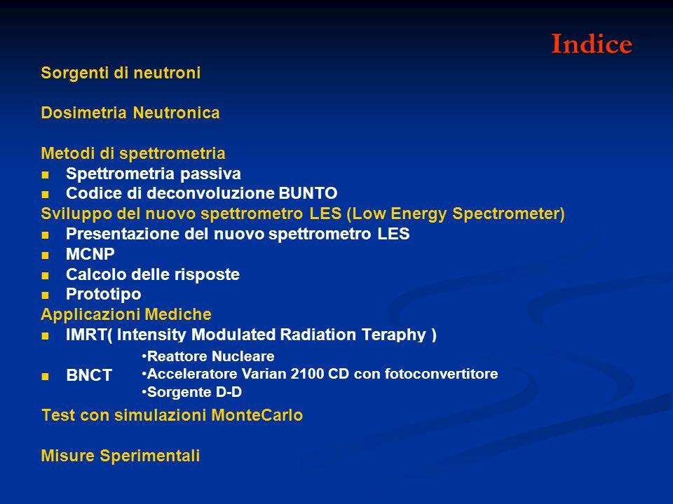 Indice Sorgenti di neutroni Dosimetria Neutronica