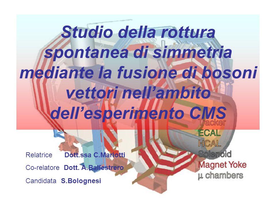 Studio della rottura spontanea di simmetria mediante la fusione di bosoni vettori nell'ambito dell'esperimento CMS