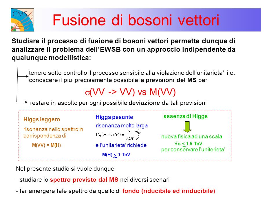 Fusione di bosoni vettori