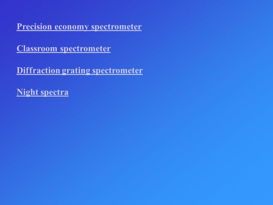 Precision economy spectrometer
