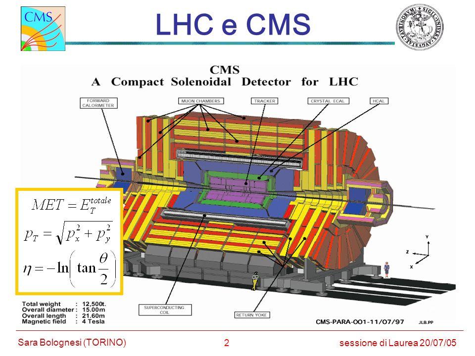 LHC e CMS Large Hadron Collider √s(p-p)= 14 TeV