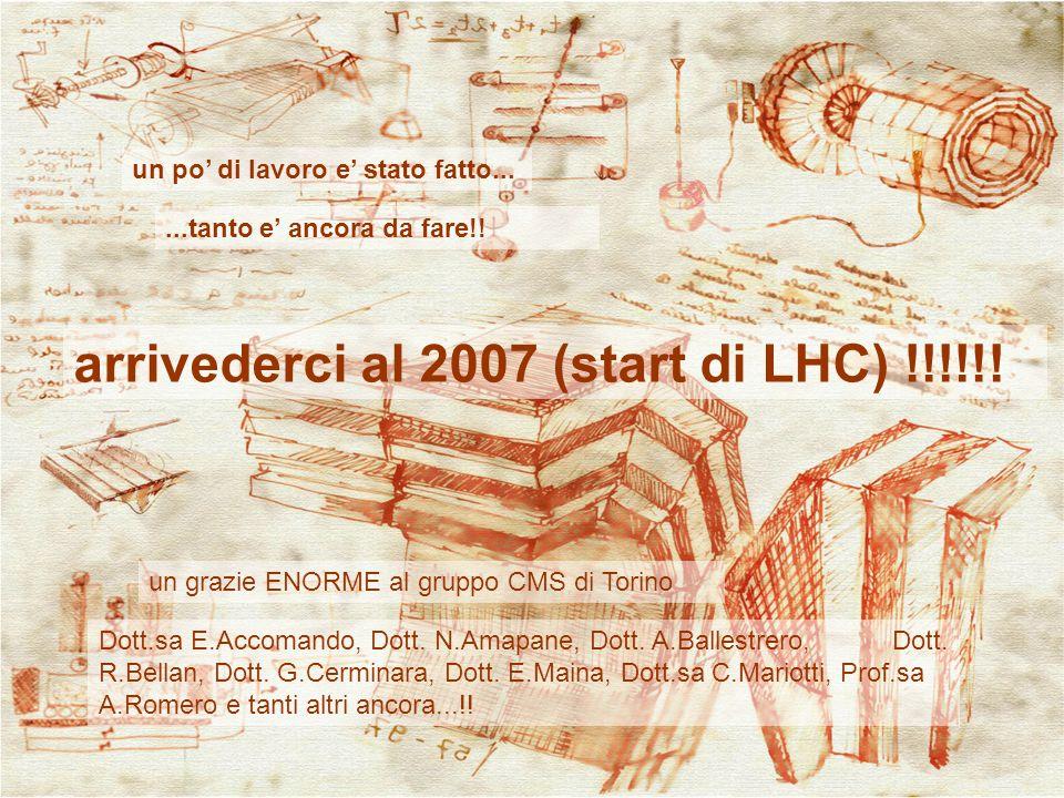 arrivederci al 2007 (start di LHC) !!!!!!
