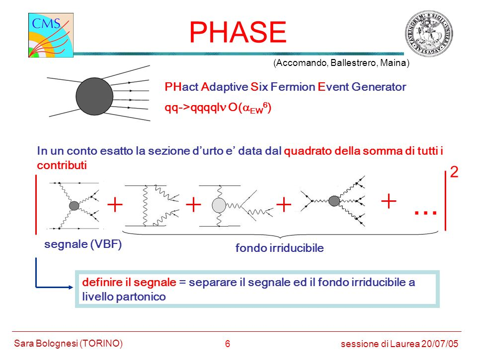 ... PHASE 2 PHact Adaptive Six Fermion Event Generator