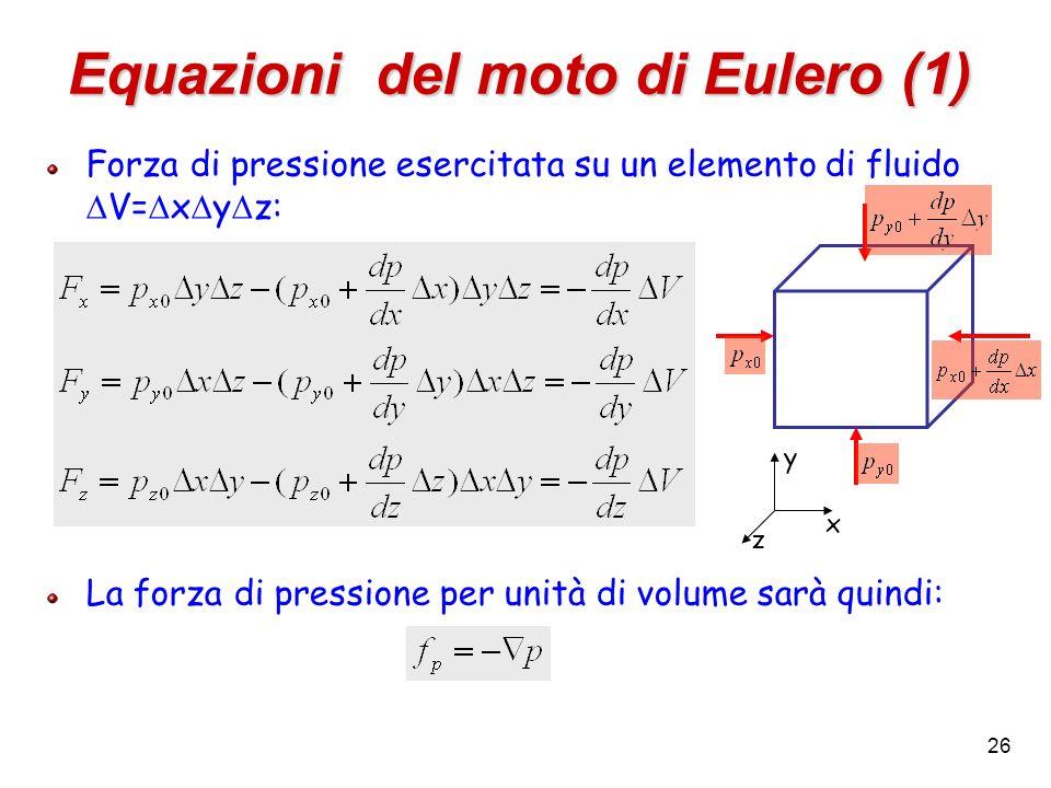 Equazioni del moto di Eulero (1)