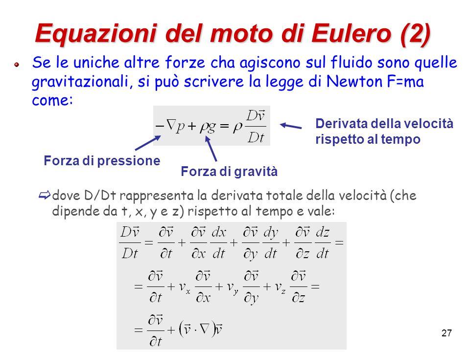 Equazioni del moto di Eulero (2)