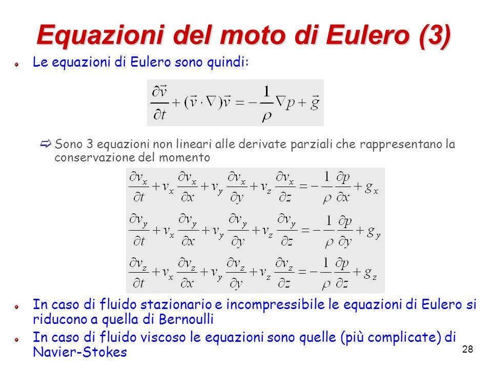 Equazioni del moto di Eulero (3)
