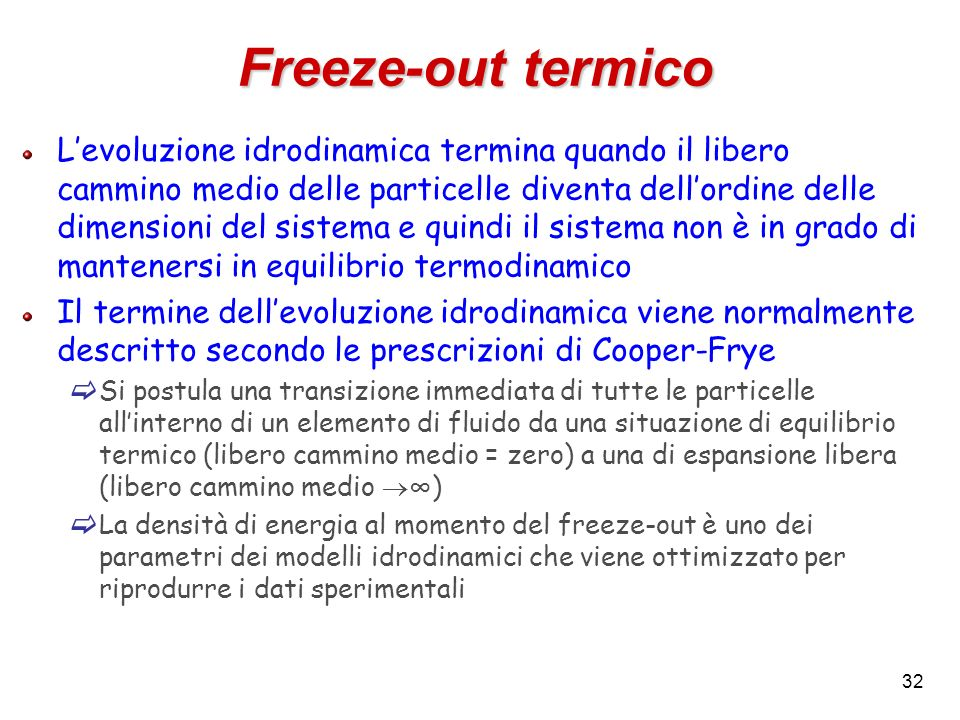 Freeze-out termico