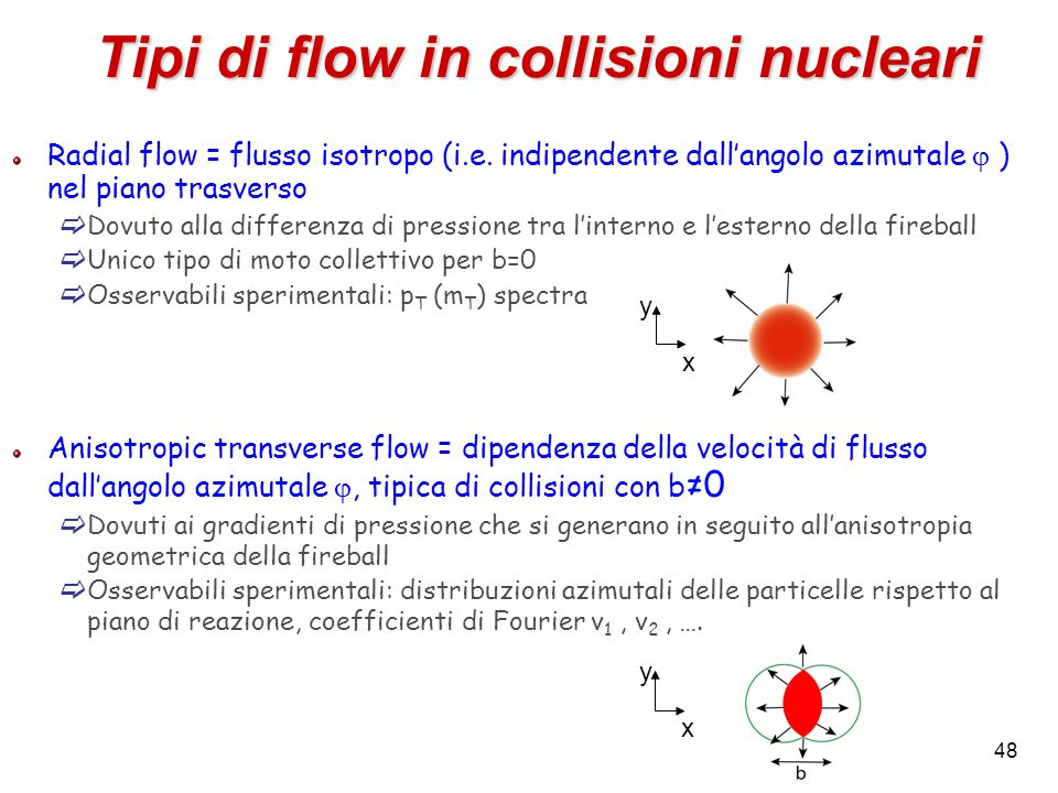 Tipi di flow in collisioni nucleari